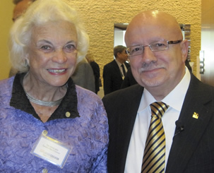 Former Justice Sandra Day O'Connor and President Padrón