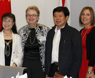 Lijun Liu, China's director general for the Department of Training and Supervision of the State Administration of Civil Service; Dr. Pamela Menke, MDC's associate provost; Mr. Yunhua Wu, China's deputy administrator of the State Administration of Civil Service, Ministry of Human Resources and Social Security; and Iliana Castillo-Frick, MDC vice provost for human resources