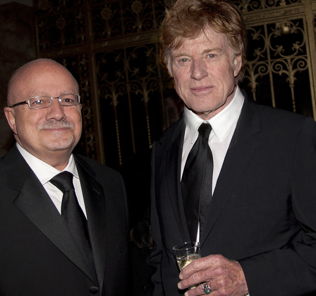 President Padrón and Robert Redford