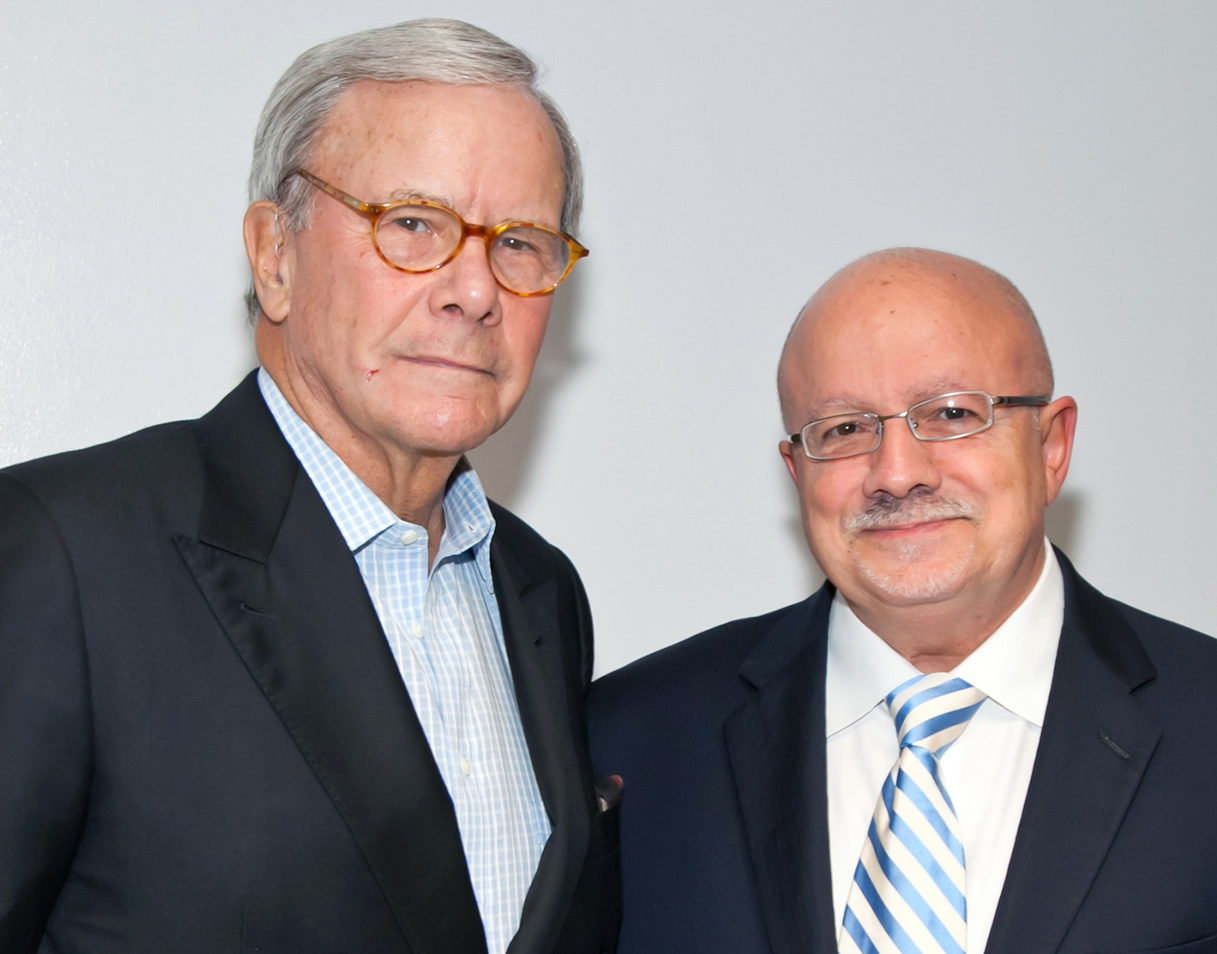 Tom Brokaw and President Padrón