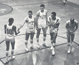 MDC's men's basketball team in 1962