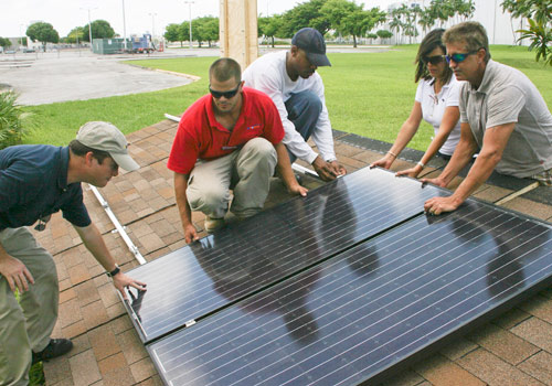 MDC students install solar panels at North Campus