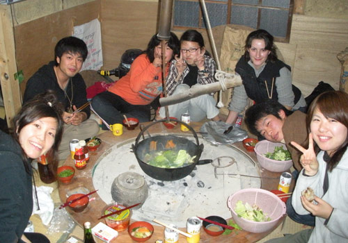 MDC student in Japan with classmates