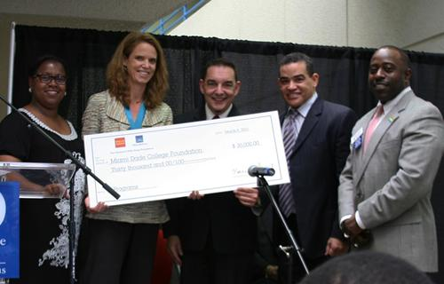 H. Leigh Toney, Jane Gilbert, Dr. José A. Vicente, Leo Toca and Jeffrey B. Price