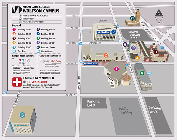 Wolfson campus map