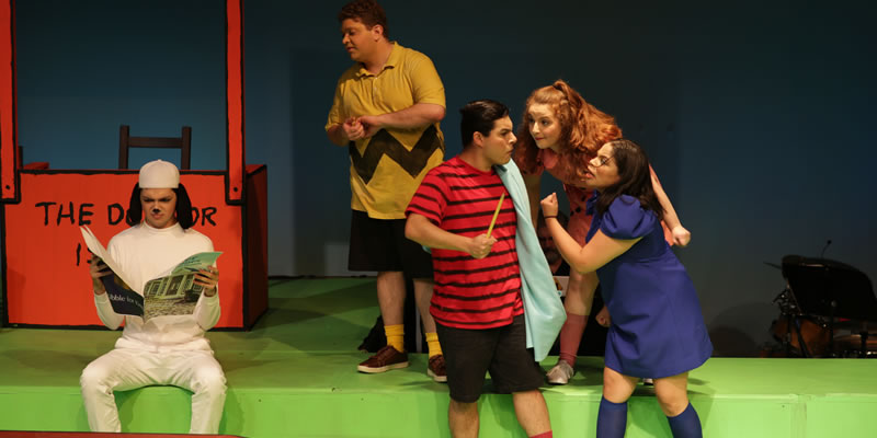 Students from the Theater program perform an on stage performance of Charlie Brown