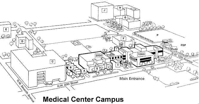 Jackson College Campus Map.A City Map To Locate The Medical Campus