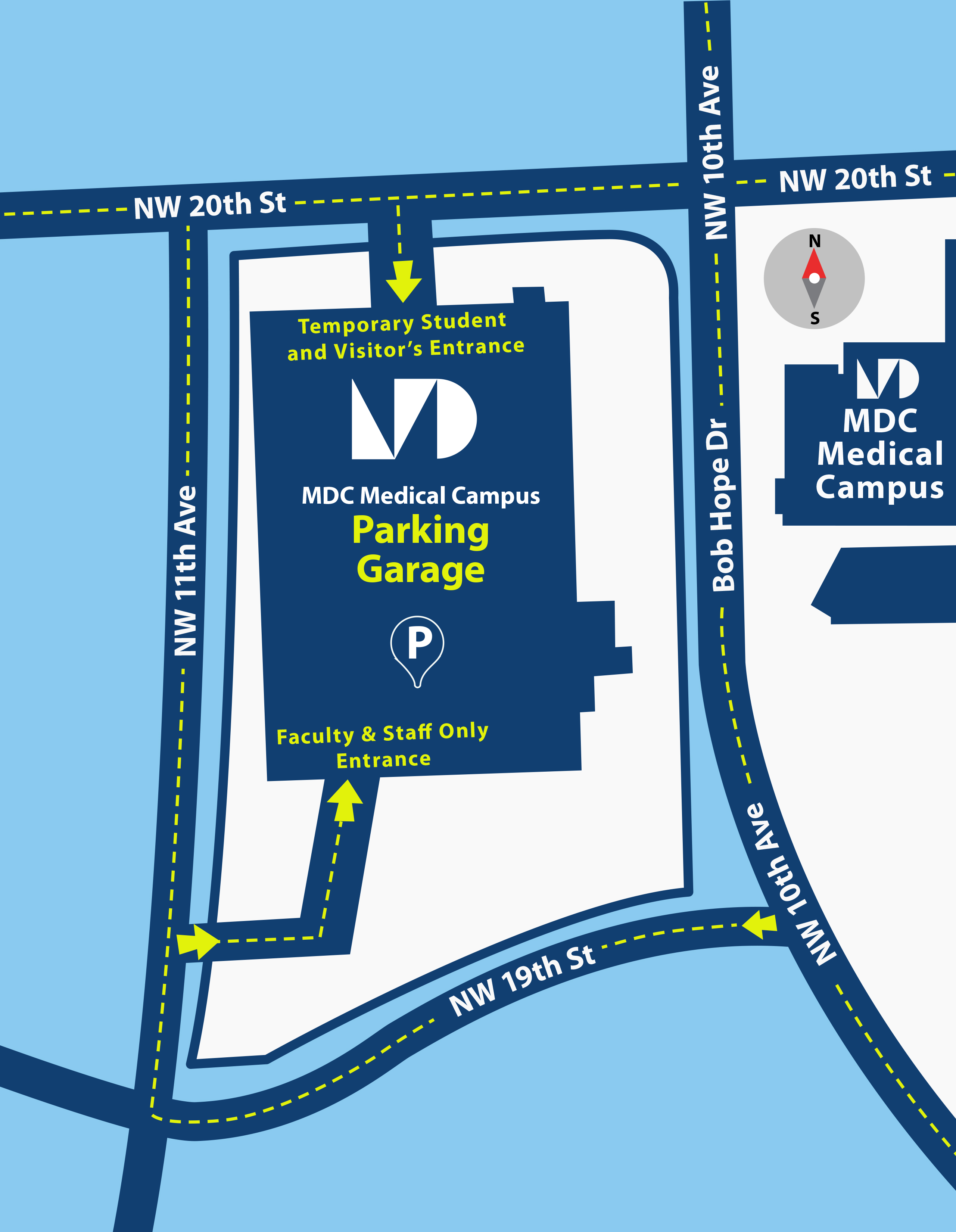 Campus Map Directions Medical Campus Miami Dade College