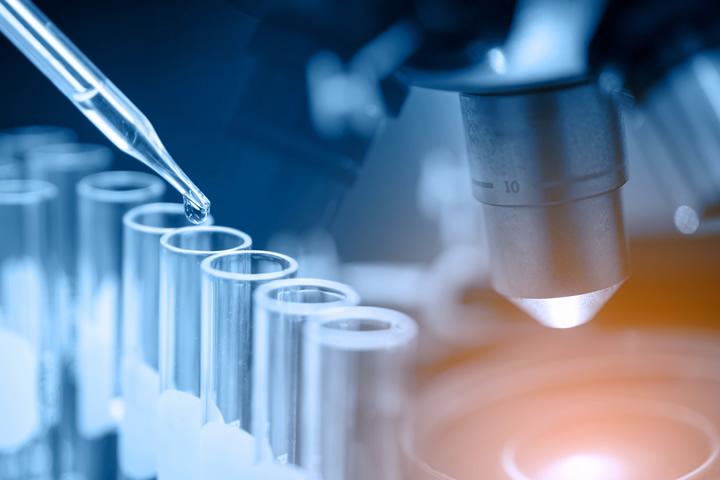 Laboratory Vials And Microscope Collage