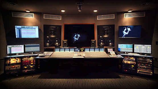 Music Studio And Production Console