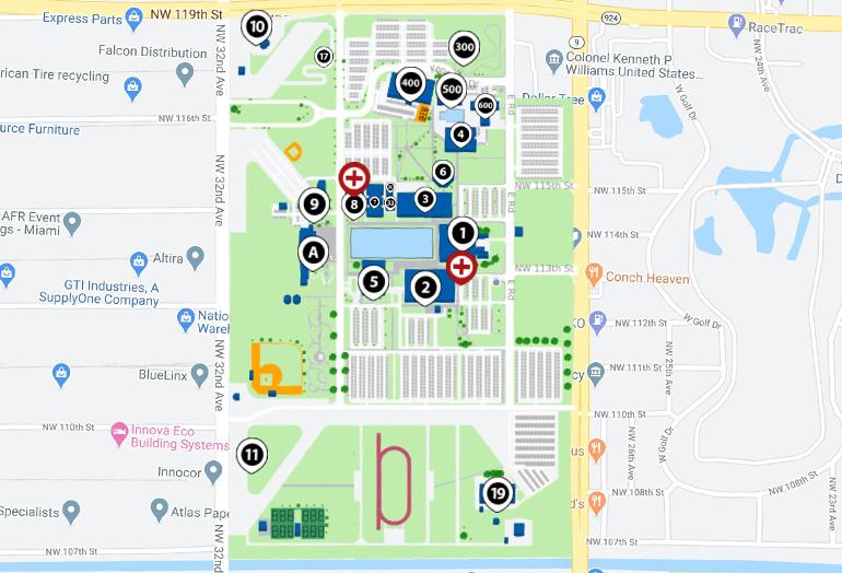 mdc campus map Campus Map Directions North Campus Miami Dade College mdc campus map