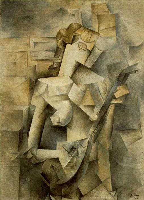 cubism girl mandolin 1910