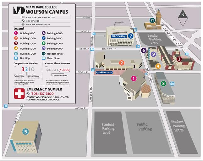 Miami Dade Wolfson Campus Map Miami Dade Wolfson Campus Map | compressportnederland Miami Dade Wolfson Campus Map