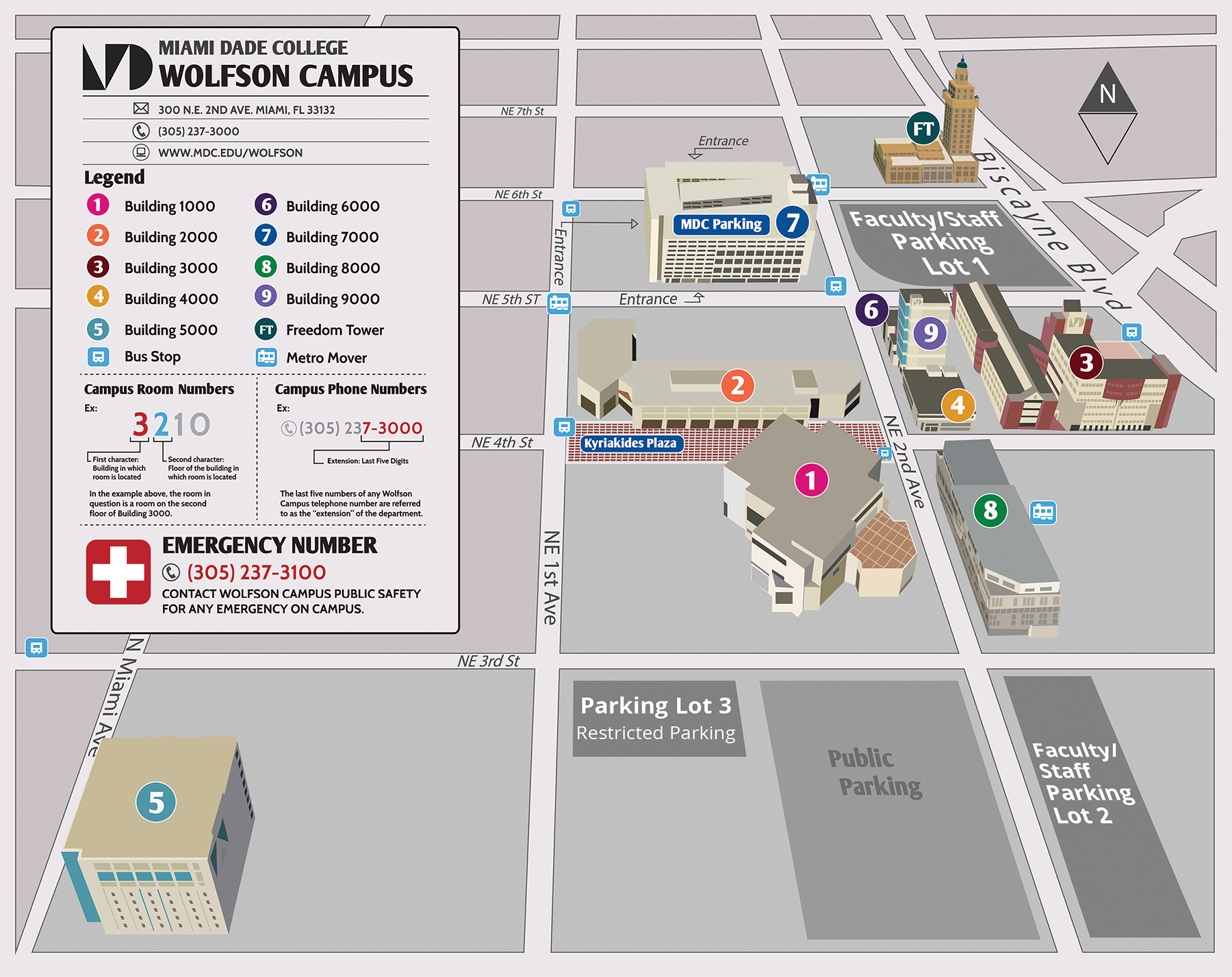 Miami Dade North Campus Map Wolfson Campus Map & Directions Miami Dade North Campus Map